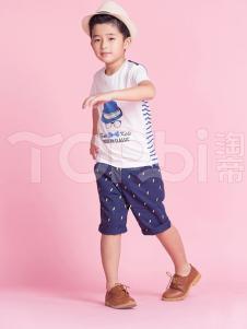 TOPBI淘帝童装男童卡通印花T恤