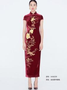 蔓樓蘭新品金怡繁華旗袍