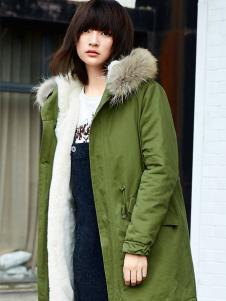 布卡拉BUKHARA绿色棉服