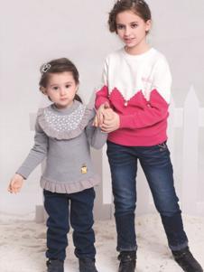 贝乐鼠童装男童拼色针织