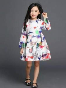 杰米杰妮女童多彩连衣裙