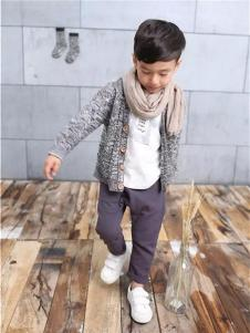 童领童装新品男童装棉麻韩版针织开衫