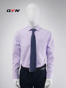 秋意濃純色淡紫色襯衫RM08081045合體版
