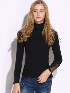 VIVIdion女装黑色针织衫