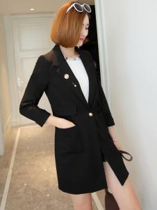 冰轩女士黑色外套