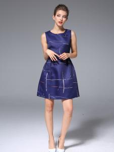 ZIMMUR2017春季新款无袖连衣裙