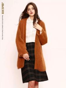 爱客时尚长款针织外套