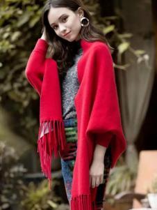 葆斯奴女装时尚红色大衣