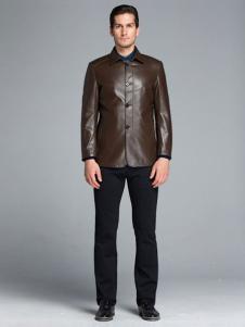 凯撒休闲装秋冬新品男士皮衣外套