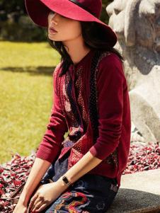 渔女装新品针织开衫