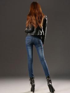 美酷思新款个性时尚牛仔裤