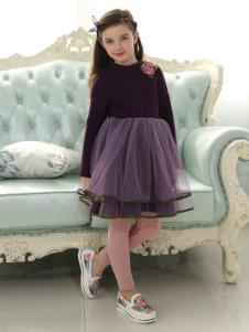 佰林格都童装佰林格都童装秋冬新品紫色双层纱裙