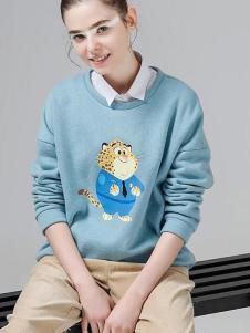 初语迪士尼疯狂动物城豹警官印花潮流卫衣