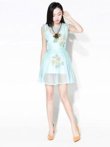 浪漫一身女装新品收腰连衣裙
