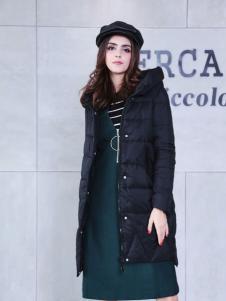 艾诺绮时尚黑色羽绒服