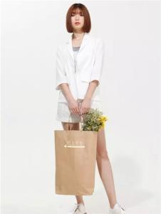 云上写生2017春新品白色商务外套