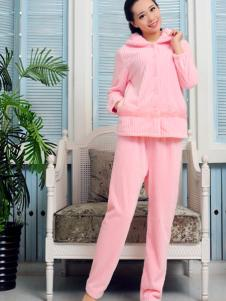 金淼粉色家居服套装