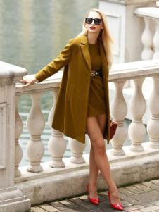 芭藜衣都女装西装领大衣