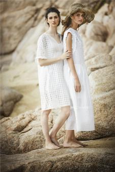 donoratico达衣岩2017年春夏新品纯白连衣长裙