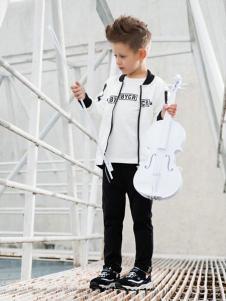 布衣草人童装白色个性外套