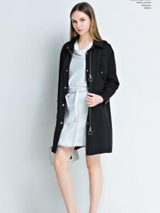 艾丽哲春季黑色休闲外套