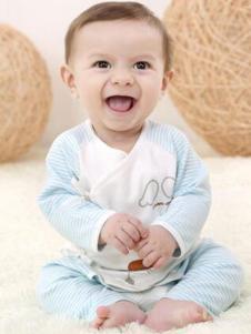 卓儿婴童装蓝条纹棉质内衣