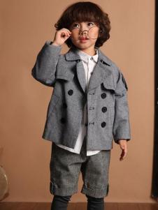 天使舞台男童灰色外套