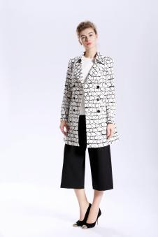 GUETES歌蒂诗2017年春夏新品西装领外套