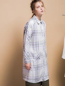 GOZO女装格纹长衬衫