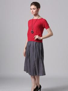 Phidias菲迪雅丝女装红色上衣T恤