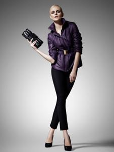 尚影女装紫色收腰外套