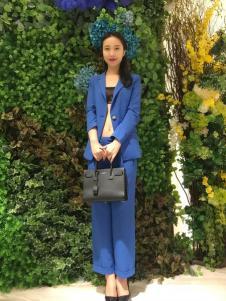 ANNIEP安妮皮诺女装蓝色西服套装