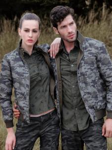 战地休闲装新品迷彩立领情侣款外套