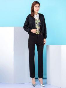 百斯盾女士职业黑裤