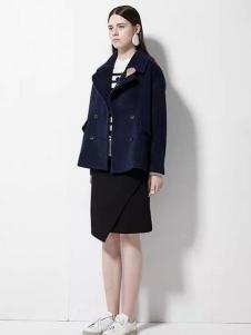 欧蒂芙女装新品廓形短款大衣
