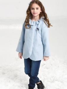 贝乐鼠童装女童呢外套