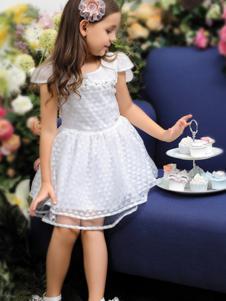 M&Q大眼蛙童装M&Q大眼蛙2017白色连衣裙
