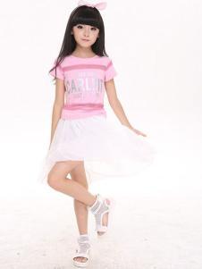 卡儿菲特童装白色纱裙