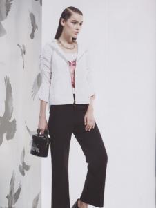 阿莱贝琳白色短款外套