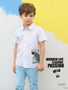 M&Q大眼蛙男童夏款衬衫