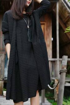 木子衣芭2017春夏新品棉麻连衣裙