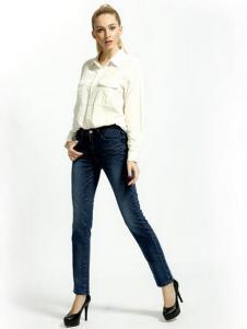 第五街女款修身牛仔裤
