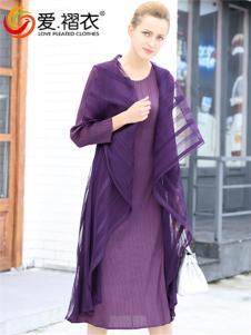 爱褶衣2017新款欧根纱褶皱拼接假两件连衣裙