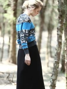 ALSCANA女装新品宽条纹印花毛衣