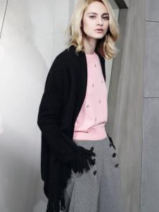 DITTO迪图女装秋冬新品黑色外套