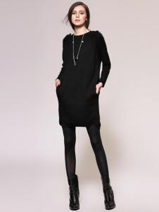 Zopin作品女装黑色连衣裙