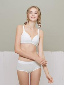 柔淇白色时尚文胸套装