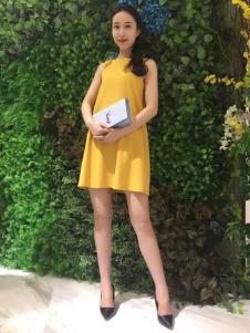 ANNIEP安妮皮诺女装黄色连衣裙