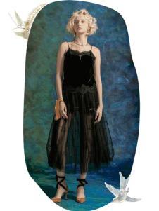 MAXRIENY女装2017春夏新品黑色吊带连衣裙