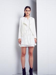 艾蝶女装白色休闲外套